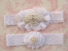 Wedding Garter Wedding Garter Set Toss Garter by nanarosedesigns, $27.95