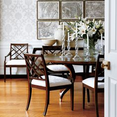 Saved To Show Table With Chairs In Grey Wash  Same As Xback Stunning Ethan Allen Dining Room Tables Review