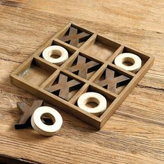 Tic Tac Toe Game Tick-tack-toe Board from Ballard Designs. Might be able to DIY this board. Perfect to have out in a living area to promote interaction and keep people off their devices. Woodworking For Kids, Easy Woodworking Projects, Popular Woodworking, Woodworking Furniture, Woodworking Plans, Wood Furniture, Woodworking Classes, Woodworking Magazine, Woodworking Techniques