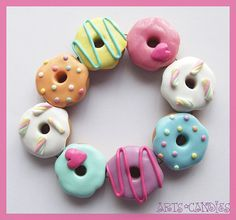 Each delicious but inedible Donut, has been carefully & lovingly handcrafted by myself down to every last detail, using polymer modelling clay, without the use of molds! MEMBER - Candy Collection