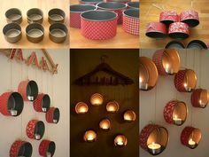 DIY Candle Holder Out Of Old Tins