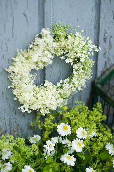 Fresh flowers wreath
