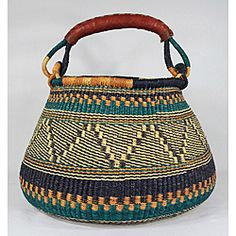 Accra Handwoven Wicker Basket (Ghana) |Pinned from PinTo for iPad|