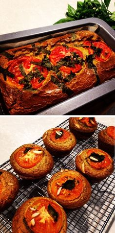 Tomato, Basil and Zucchini Savory Loaf or Muffins #TheShrinkingHubby​