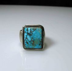 Turquoise Ring Size 10 Mens Jewelry by HotRoxCustomJewelry on Etsy, $125.00