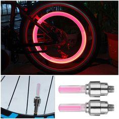 2 قطع إنذار ضوء دراجة سيارة دراجة دراجة الاطارات عجلة صمام فلاش led ضوء جديد تماما