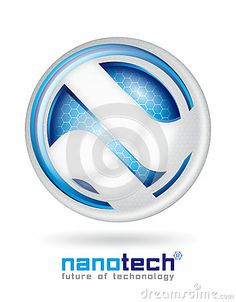 Futuristic logo design of nano technology.