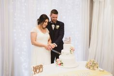 Our Bride and Groom Cutting their 3 tier rose decorated wedding cake  Photography by Alex Zarodov Photography Wedding Gallery, Wedding Blog, Wedding Planner, Civil Ceremony, Wedding Ceremony, On Your Wedding Day, Perfect Wedding, Wedding Cake Cutting, Bride Speech
