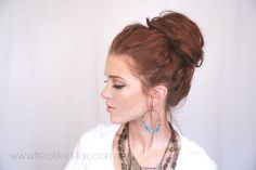 The Freckled Fox: Festival Hair Week: The Perfect Messy Bun