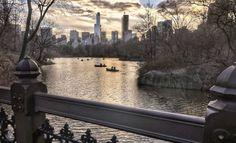 Central Park at dusk by Mickey Mickey Photography - New York City Feelings
