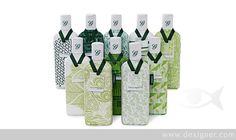Ten Green Bottles by Studio Conran for Gordon's Gin. Limited Edition of 100 bottles. Fabric is hand-sewn onto each bottle.