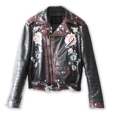 http://rubies.work/0932-emerald-pendant/ Paper Machine Hand Painted Leather Moto Jacket