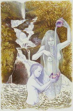 Temperance - Tarot of Northern Shadows. by Sylvia Gainsford Temperance Tarot Card, Tarot Cards, Online Tarot, Major Arcana, Lesbian Love, Tarot Decks, Erotic, Princess Zelda, Antiques