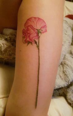 My new sweet pea tattoo …