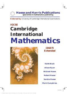 Hixamstudies: IGCSE Cambridge International Mathematics Text Boo...