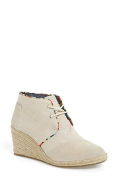 00fed94ebeb TOMS Burlap Suede Desert Wedge Bootie (Women) available at