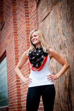 Flag Scarf...4th of July Fashion! #SmittenScrubs @Gina Rau Scrubs #nurses #healthcare #studentnurse #nursing #RN #LPN #uniforms #scrubs #July4th #IndependenceDay #RocknRoll #rockstar #fashion