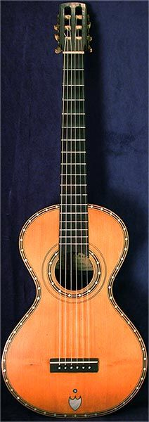 Early Musical Instruments, antique Romantic Guitar by George & Manby around 1840