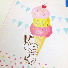 Sweet treats! #Snoopy #Peanuts #Hallmark #Hallmark cards #greetingcard #card #icecream