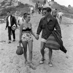 Couple at the beach, 1948