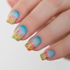 China Glaze • Road Trip Spring 2015 Freehand Tulip Nail Art