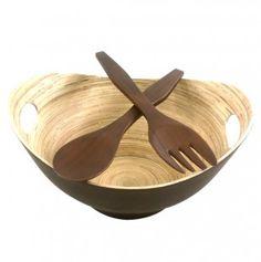Bamboo Bowl & Server Set