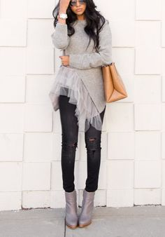 This tulle sweater is the coolest. Ever.