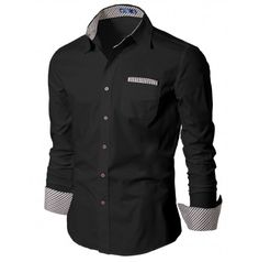 Mens Shirt Casual Dress Shirts with Tie (HAS:DOUBLJU)