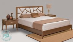 #LVMkt exclusive unveiled 7/29-8/2: The Elise #bedroom collection from Creative Elegance. #Furniture is fashioned from select white birch veneer & maple solids; note the unique lattice treatment on the headboard.