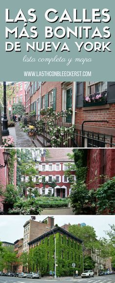 [GUÍA] Descubre las calles más bonitas de Nueva York, fuera de rutas turísticas y con mucho encanto.