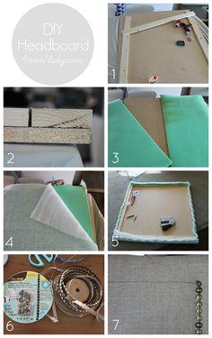 How to DIY a headboard. 4men1lady.com