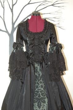 Green and Black Victorian steampunk goth  by hhfashions on Etsy, $205.00