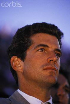John F. Kennedy Jr. watches the 1995 US Open men's finals