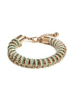 mint gem coil bracelet / baublebar