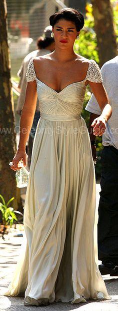 jessica-szohr Reem Acra Spring 2008 Bridal Gown