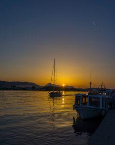 Sunset in Grece, Poros Island, Attica_ Greece Poros Greece, Attica Greece, Beautiful Sky, Beautiful Places, Zorba The Greek, Paros, Artistic Photography, Greek Islands, Travel Destinations
