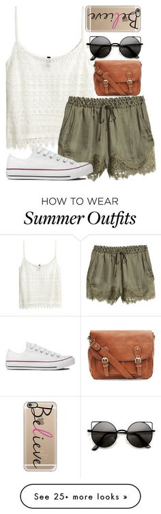 """Late Summer Outfit"" by xx-tropicalvibes-xx on Polyvore featuring H&M, Converse, Casetify and tropicaloutfits #vacationoutfitsmexico"