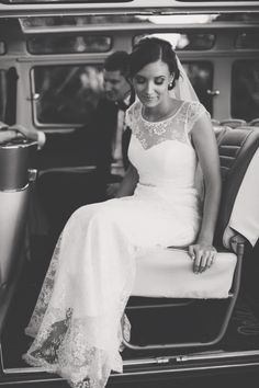 Chantilly lace gown by @bertossibrides