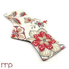 "12"" Night Postpartum Majestic Oasis Scarliet Minky backed with premium WindPro Fleece Cloth Menstrual Pad, Mama Cloth, Cloth Pad, Reusable"