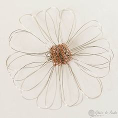 Since I have been having so much making crochet jewelry from wire (you can see all the jewelry here), I thought it would be fun to see how it would work as a loom flower. I think I am going to attach a pin backing to it to use a broach.