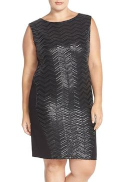 CARMAKOMA Sequin Sheath Dress with Side Zip Detail (Plus Size) available at #Nordstrom