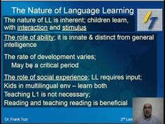 Foundations of Second Language Acquisition - YouTube