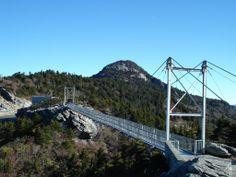 grandfather mountain nc   Mile High Swinging Bridge at Grandfather Mountain, NC