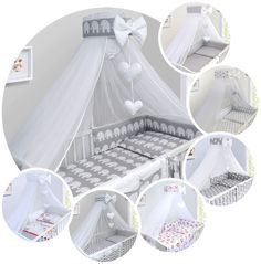 BABY BEDDING SET COT COTBED 3 6 10 14 Pieces PILLOW DUVET COVER BUMPER CANOPY   | eBay