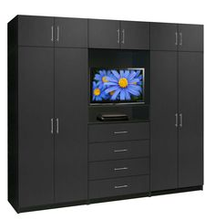 Aventa Wardrobe TV Cabinet X-Tall - Extra Wardrobe Cabinet Storage  sc 1 st  Pinterest & Aventa TV Wardrobe Wall Unit X-Tall - Bedroom TV Furniture Plus ...