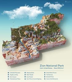 http://www.ecoclimax.com/2018/04/a-topographic-map-of-zion-national-park.html
