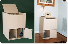 The coolest cat box ever in the history of cat boxes! MUST DIY THIS!!