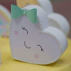 Valentine Decorations, Birthday Party Decorations, Baby Shower Decorations, Diy Paper, Paper Crafts, Cloud Party, Baby Baptism, Baby Album, Ideas Para Fiestas