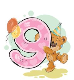 This PNG image was uploaded on January pm by user: gilgameshXVII and is about Arabic Numbers, Art, Balloon, Bear, Cartoon. Happy Birthday, Kids Birthday Cards, Birthday Numbers, Birthday Greetings, Birthday Wishes, Tatty Teddy, Teddy Bear, Cartoon Cookie, Cute Cartoon