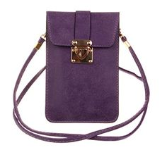 New Trending Shoulder Bags: KISS GOLD (TM) Luxury Matte PU Leather Mini Crossbody Single Shoulder Bag Cellphone Pouch (Model A-Purple). KISS GOLD (TM) Luxury Matte PU Leather Mini Crossbody Single Shoulder Bag Cellphone Pouch (Model A-Purple)  Special Offer: $9.99  422 Reviews This cellphone pouch is made of high quality matte pu leather , soft and durable, making it one of the most fashion and practical cellphone...